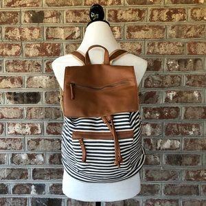 Steve Madden Canvas Drawstring Backpack Purse NWOT